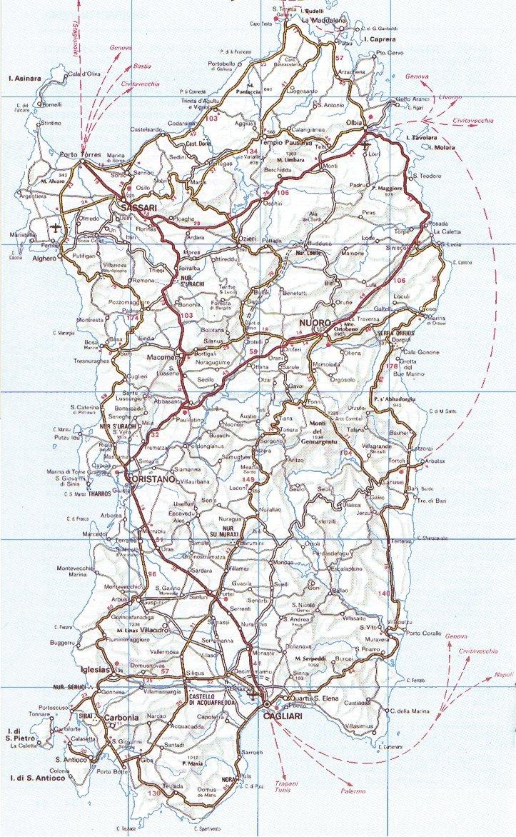 Cartina Sardegna Satellite.San Giovanni Surf Gang